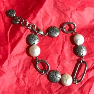 Brighton Silver and Pearl Bracelet